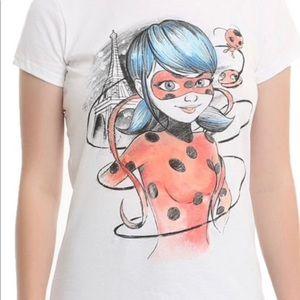 Miraculous Eiffel Tower Girls T-Shirt Brand New.